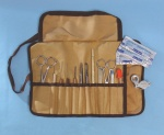 A standard dissecting kit in a cloth roll - These are the kits we use in MS science at TASIS
