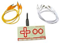 The Makey Makey is an invention kit that connects to a laptop computer via the USB port