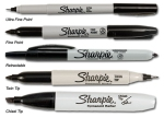 Sharpie permanent markers come in a wide variety of tip sizes (and colors)